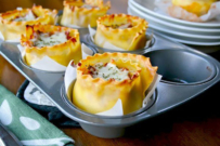 muffin tin recipes - lasagne cups