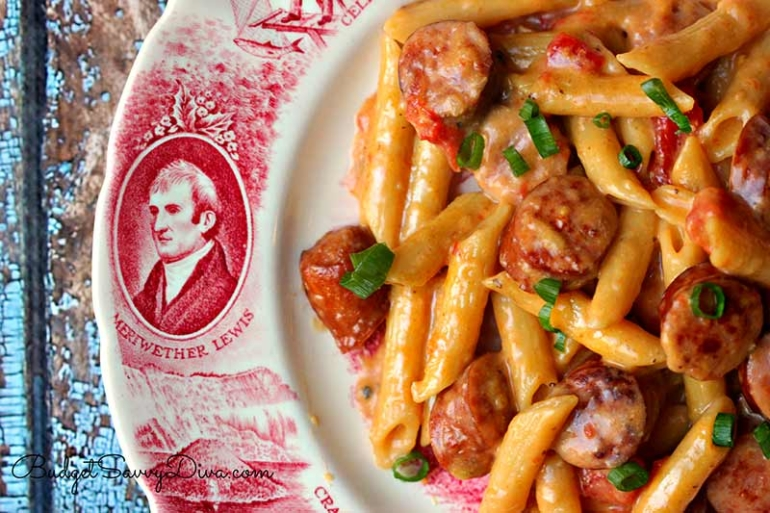 sausage pasta recipe, budget meals for families