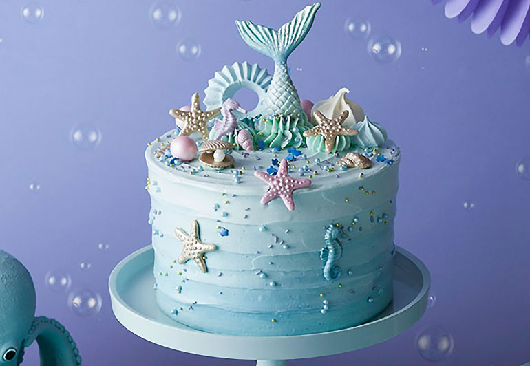 party food mermaid cake