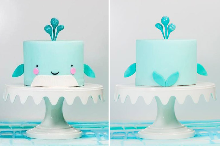 party food whale cake
