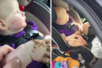 baby poonami - baby eats poo in car