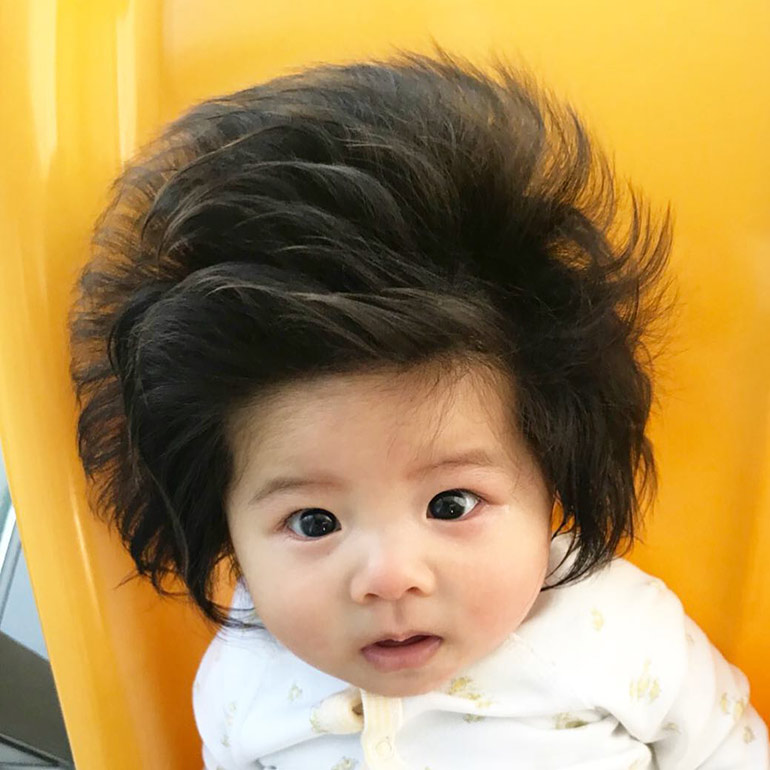 baby chanco crazy hair baby