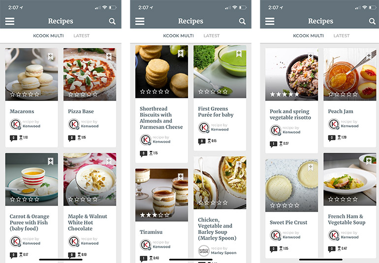kenwood kcook multi smart recipe app