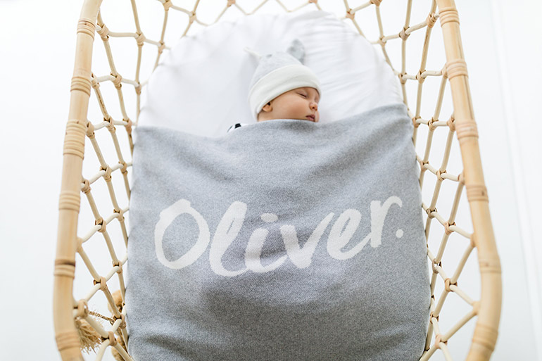 namelyco personalised bassinet blanket