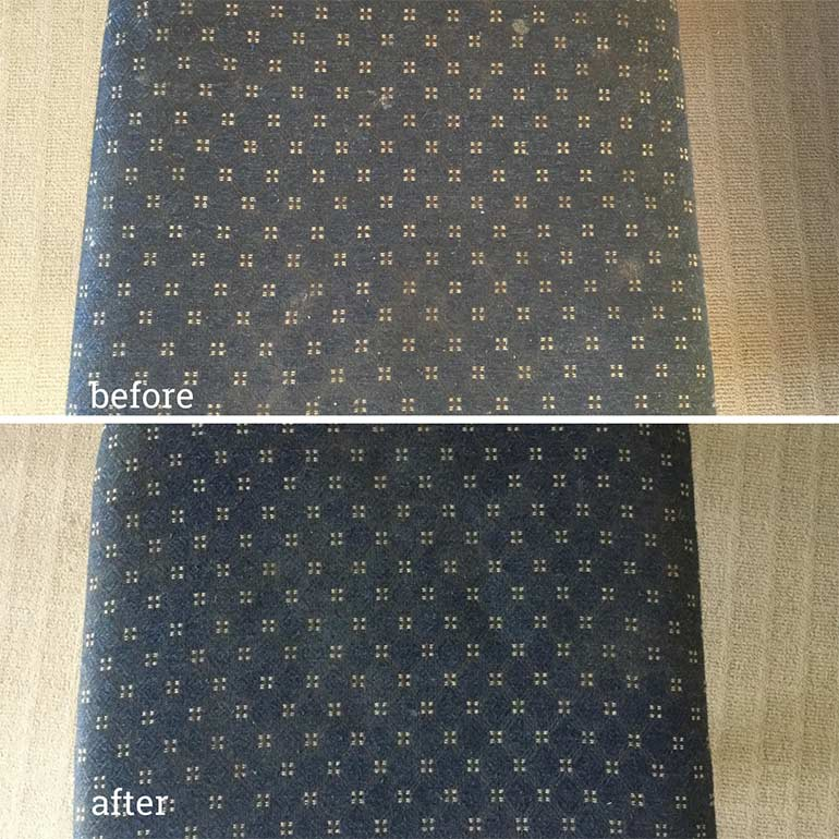 rug doctor dining chairs before and after