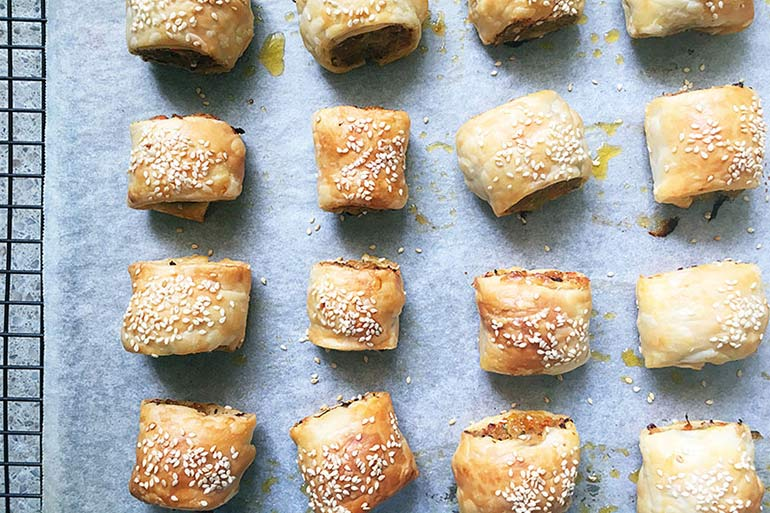 thermos lunch ideas - sausage rolls