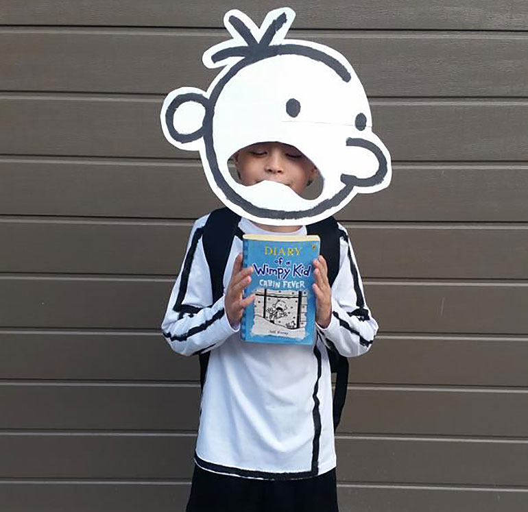 Wimpy Kid Easy Book Week costumes