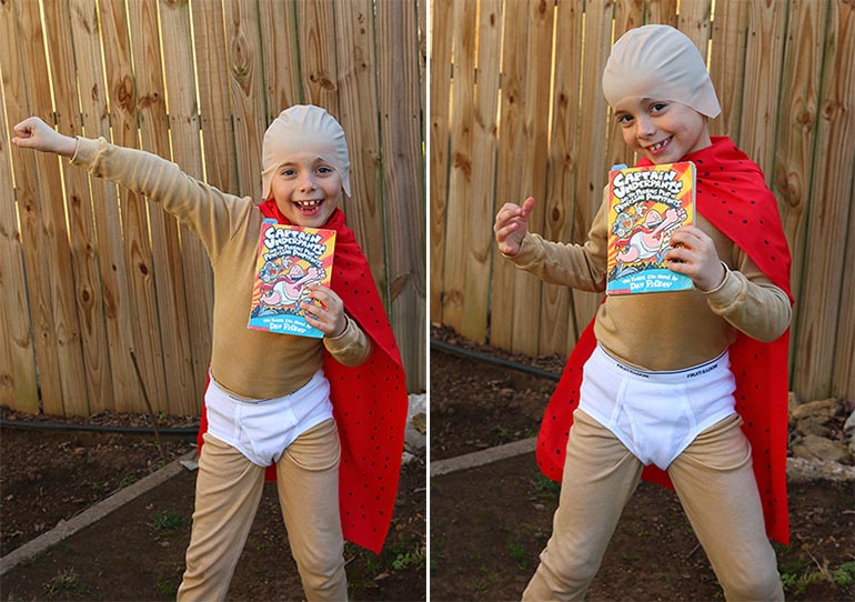 easy book week costumes - Captain Underpants