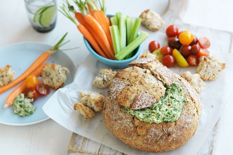 Spinach cob loaf dip recipe