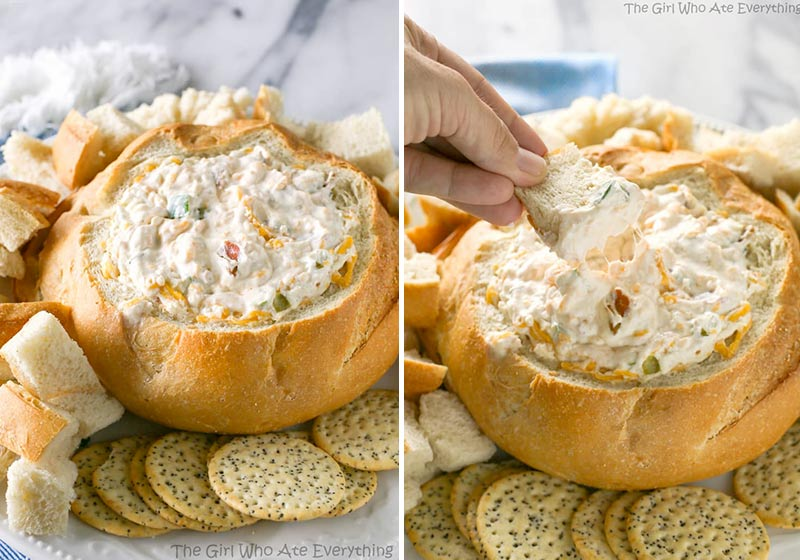 bacon and cheese cob loaf dip recipe