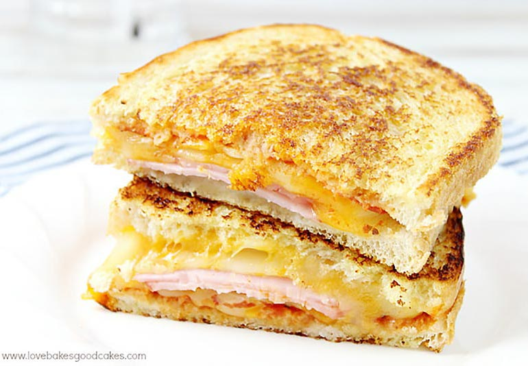 Hawaiian pineapple grilled sandwich