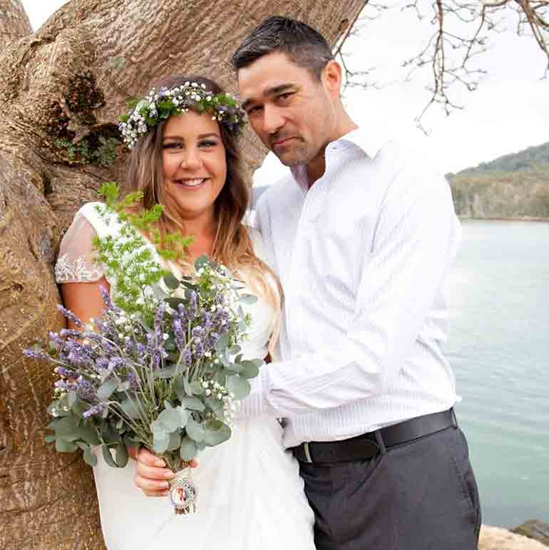 Jemma and Heemi on their wedding day. Image source: Facebook