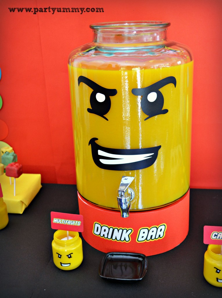 Lego themed drink station