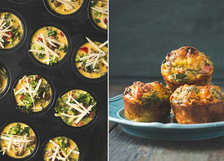 mini quiches - one handed eats