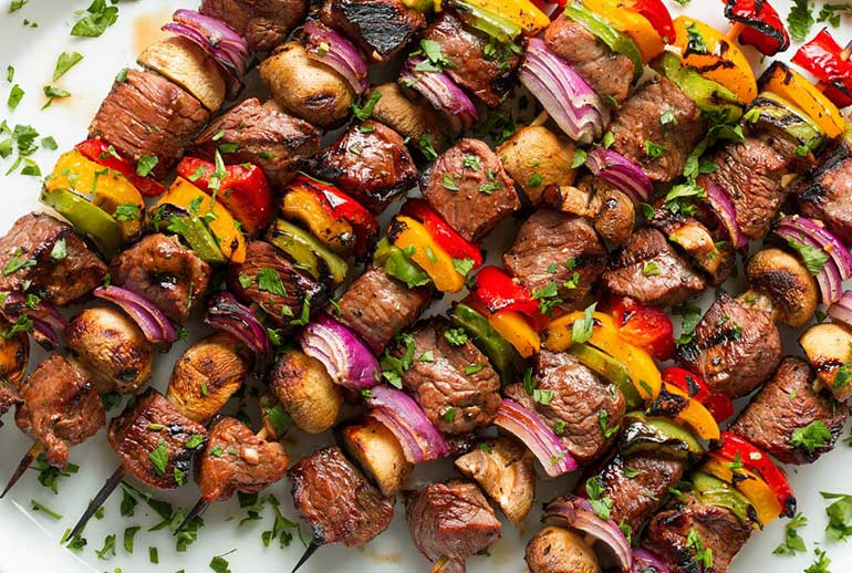 steak kebabs - one handed eats