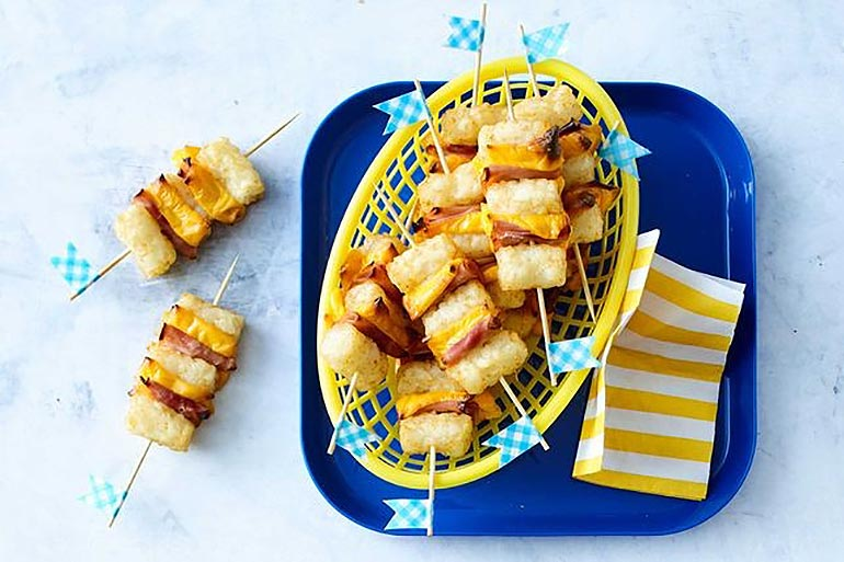 potato ham and cheese sticks - one handed eats