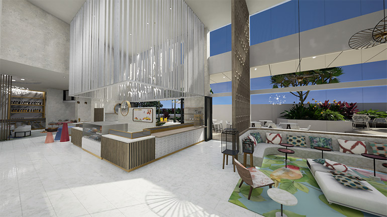 foyer Ruby Apartments Gold Coast