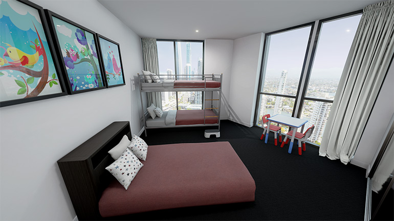 ruby apartments kids room Gold Coast accommodation