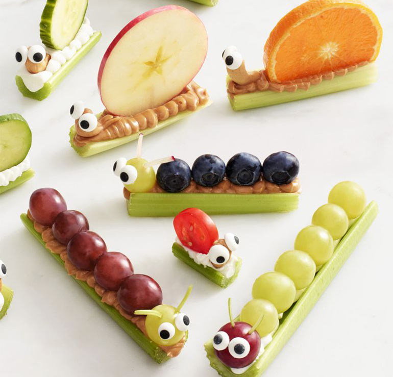 Cute fruit critter crudites