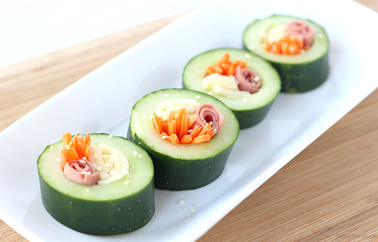 cucumber sushi snack recipe