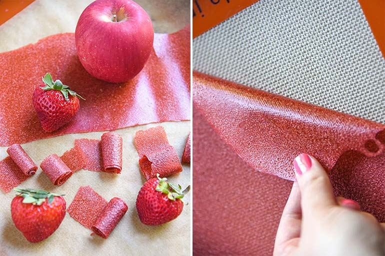Fruit leather snack recipe