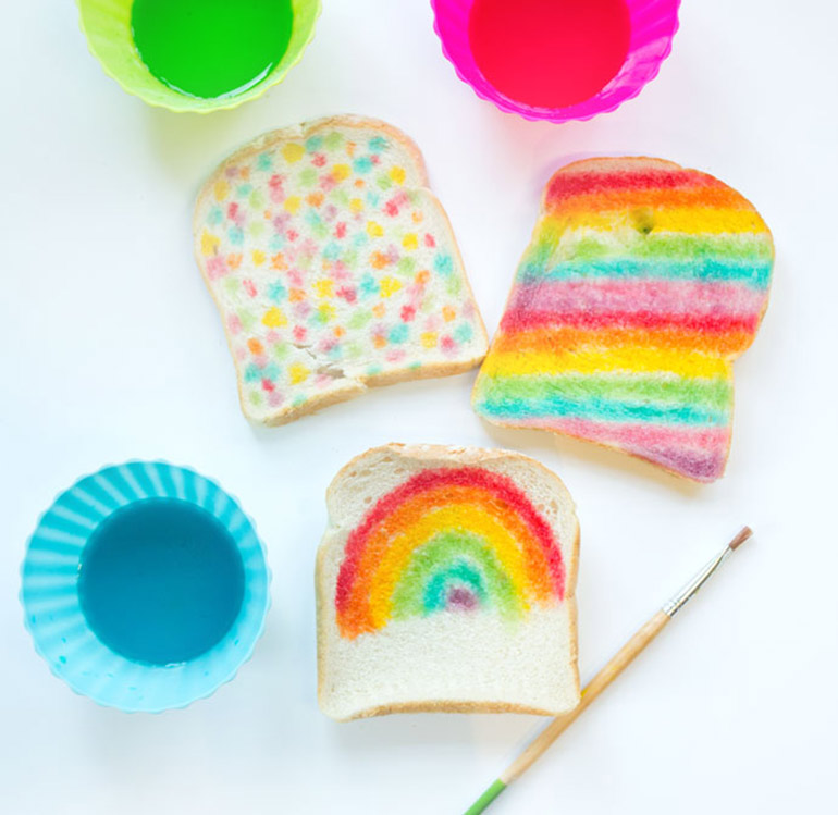 Kids craft activity bread painting