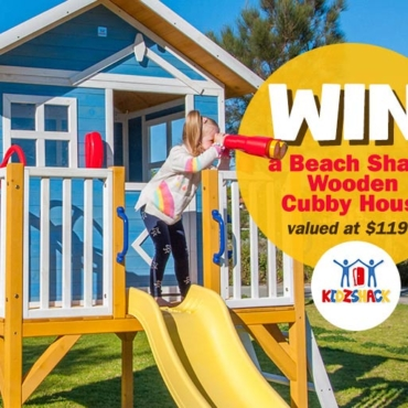 WIN: Life's a Beach with this Breezy Beach Shack Wooden Cubby House