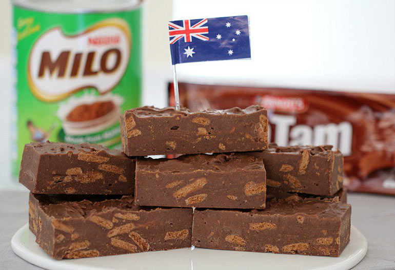Milo and Tim Tam fudge recipe