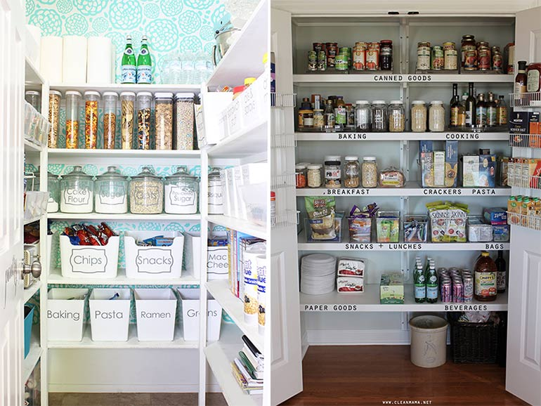 pantry storage organisation