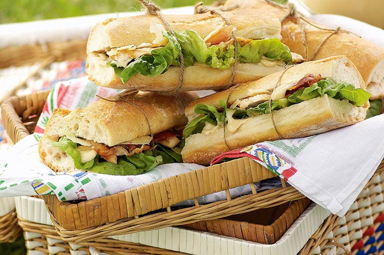 picnic chicken baguette recipe
