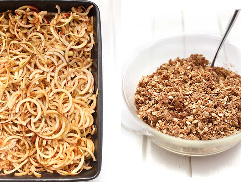 Spiraliser apple crumble recipe