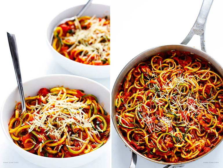 Spiraliser zoodle pasta recipe