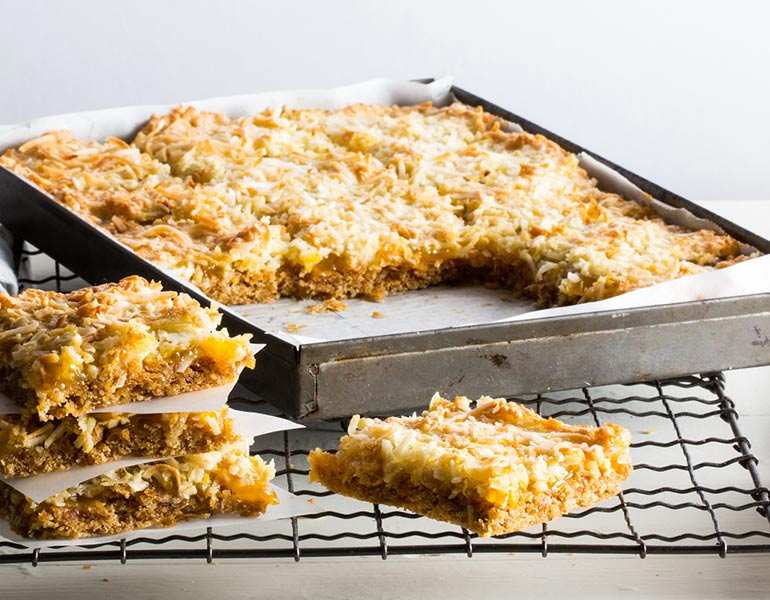 Weet-Bix lemon coconut slice recipe