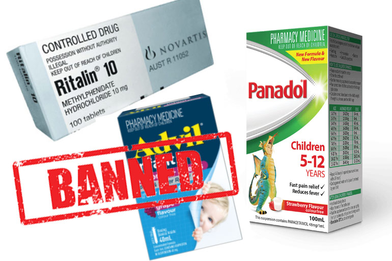 common Australian medicines banned overseas