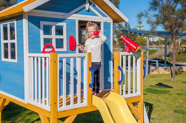 Kidzshack beach shack cubby house win