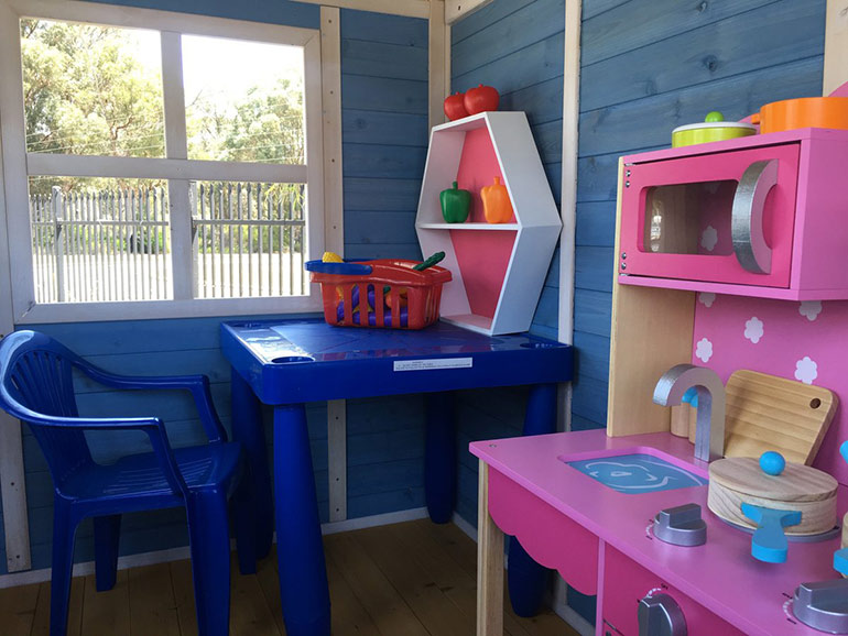 kidzshack wooden cubby house interior