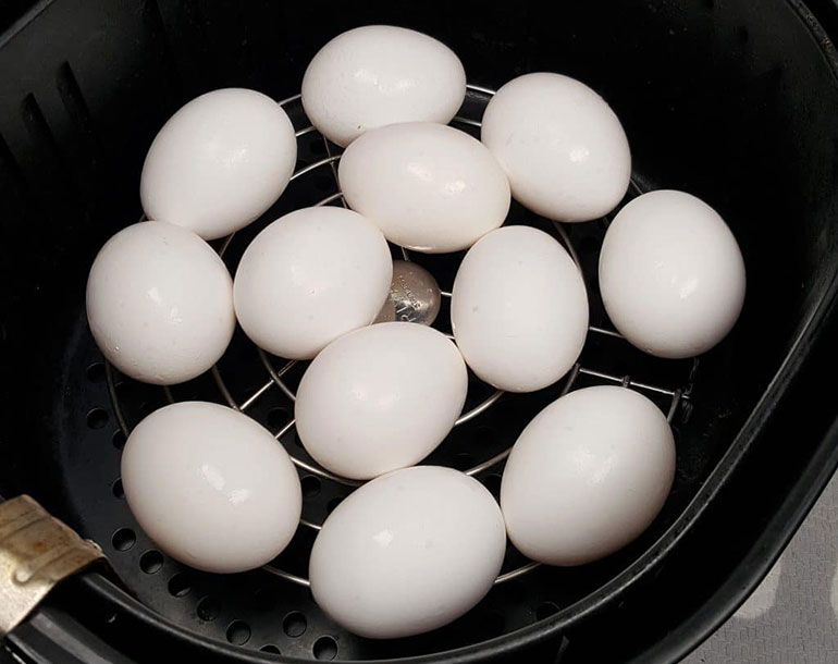 air fryer hard boiled eggs recipe