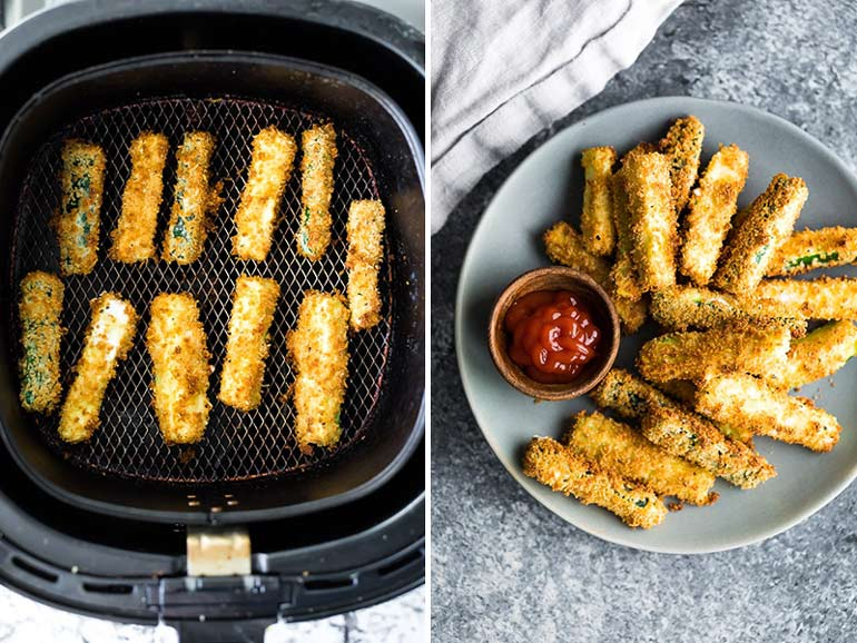 air fryer zucchini fries recipe