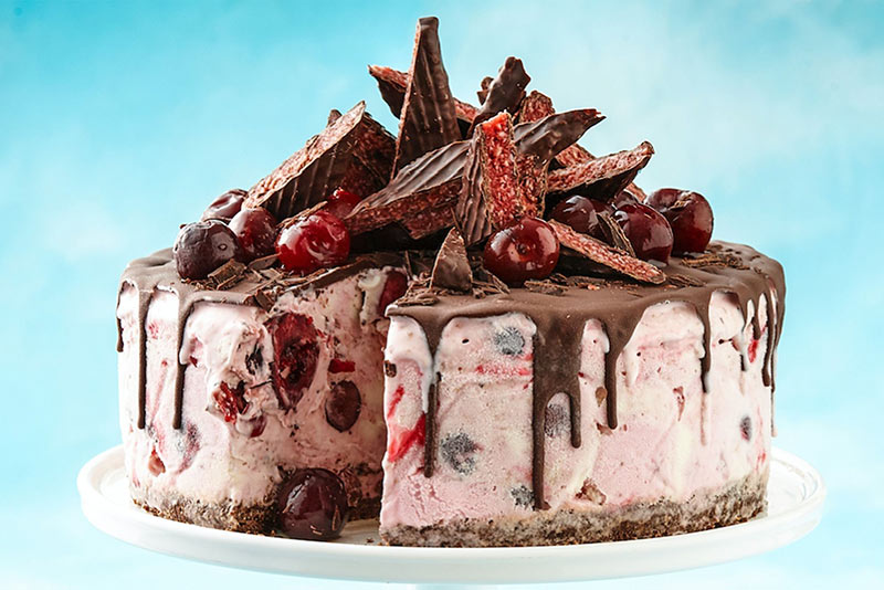 Cherry Ripe ice cream cake