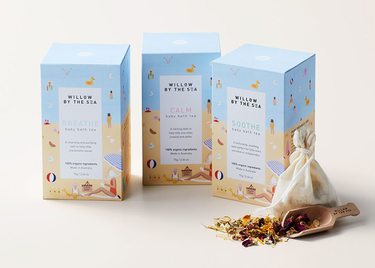 Willow By The Sea Baby Bath Tea Set