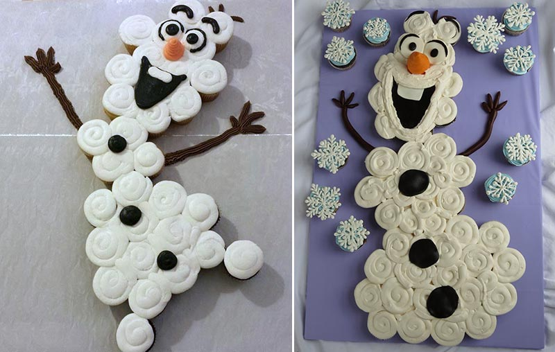 Olaf Frozen cupcakes cake