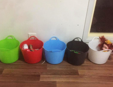 fucket bucket get kids to tidy up