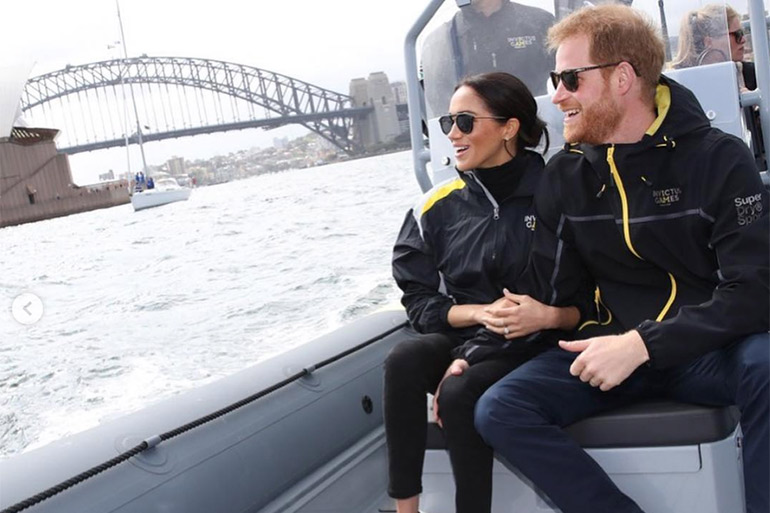 Ptrince Harry and Meghan Markle visit Australia