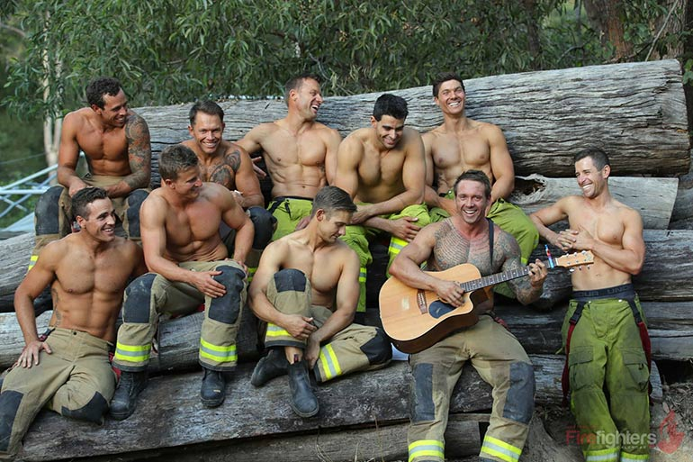 hot Australian firefighters calendar