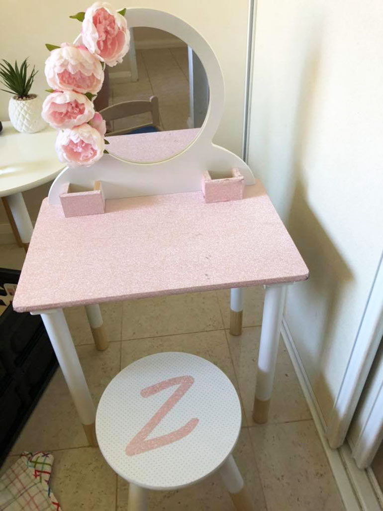 Kmart Vanity Table Hack