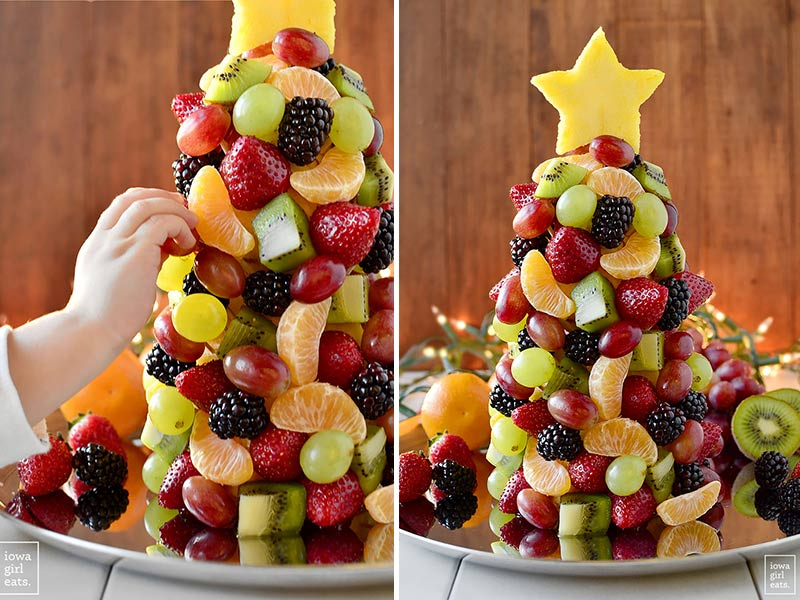 fruit salad Christmas tree