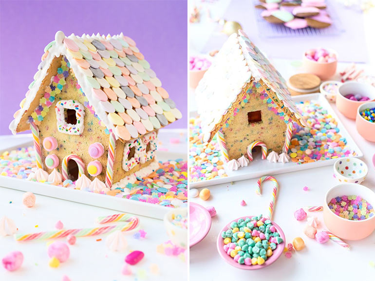 sugar cookie cute gingerbread house
