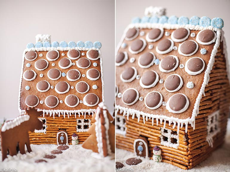 pretzel gingerbread house