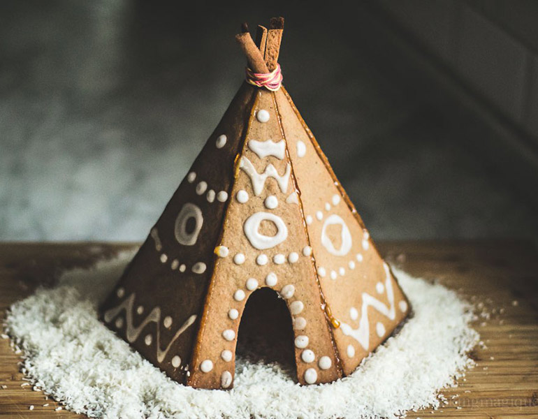 gingerbread teepee