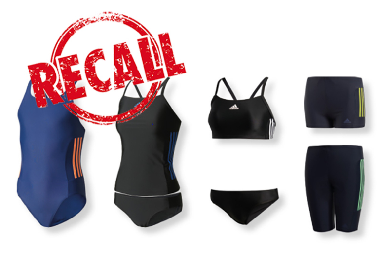 adidas swimwear recall for kids